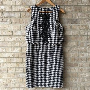 NWT Karl Lagerfeld Houndstooth Dress Size 10